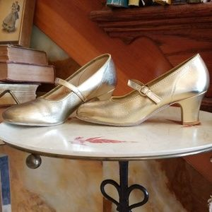 Vintage Mary Jane Gold Dance Shoes